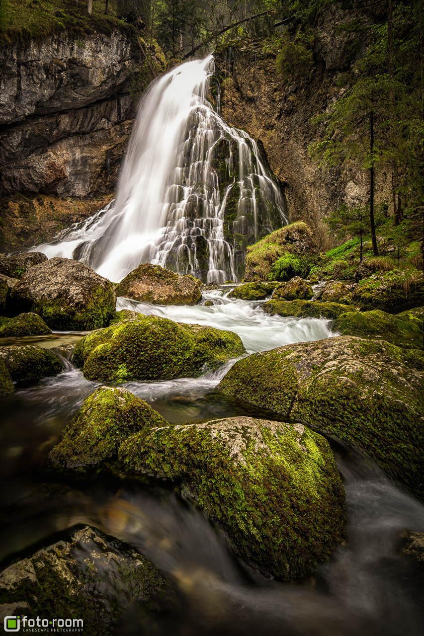 Gollinger Wasserfall mit viel Wasser